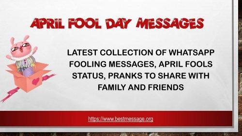 April Fool Day Messages April Fool Text Pranks Jokes