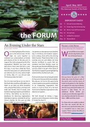 April/May 2019 FORUM