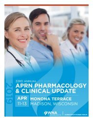 WI APRN Pharmacology and Clinical Update 2019