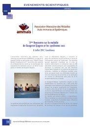 Sécheresse des muqueuses et maladie de Gougerot-Sjögren en débat au Maroc- AMMAIS Info