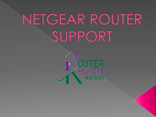 Looking for Netgear router support