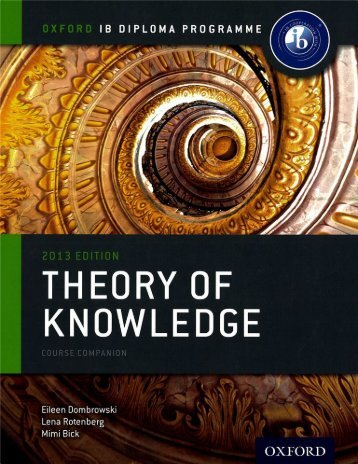 SHELF 9780198355137, IB Theory of Knowledge Course Book Pack 2013 Edition 50p copy