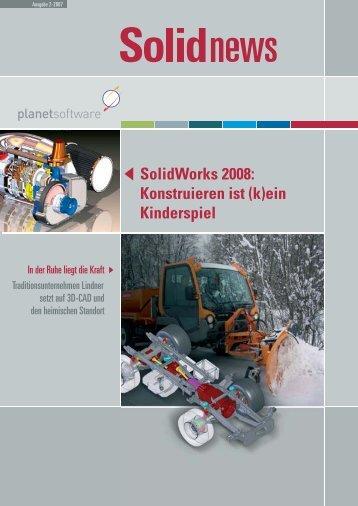 SolidWorks 2008: Konstruieren ist (k)ein Kinderspiel - Planet ...