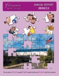 2011 annual report.pdf - Sid Jacobson Jewish Community Center