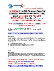 [2019-March-Version]New Braindump2go CAS-003 PDF and CAS-003 VCE Dumps Free Share(Q128-Q138)
