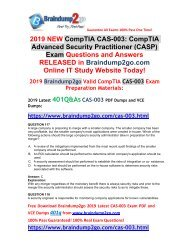 [2019-March-Version]New Braindump2go CAS-003 VCE and CAS-003 PDF Dumps Free Share(Q117-Q127)