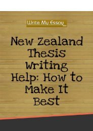 New Zealand Thesis Writing Help: How to Make It Best