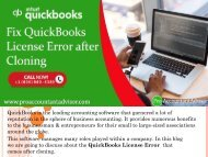 Troubleshooting QuickBooks License Error after Cloning