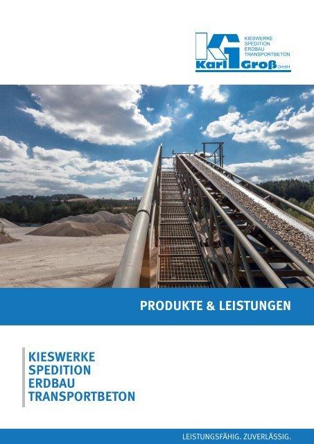 Gross Kieswerke - Produkte