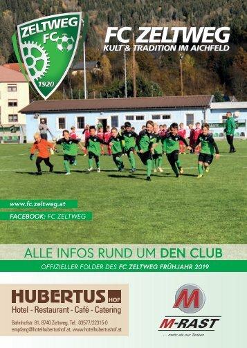 FC Zeltweg Folder Frühjahr 2019