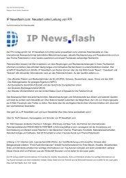 IP Newsflash.com: Neustart unter Leitung von FFI