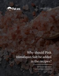 Why should Pink Himalayan Salt be added in the recipes?