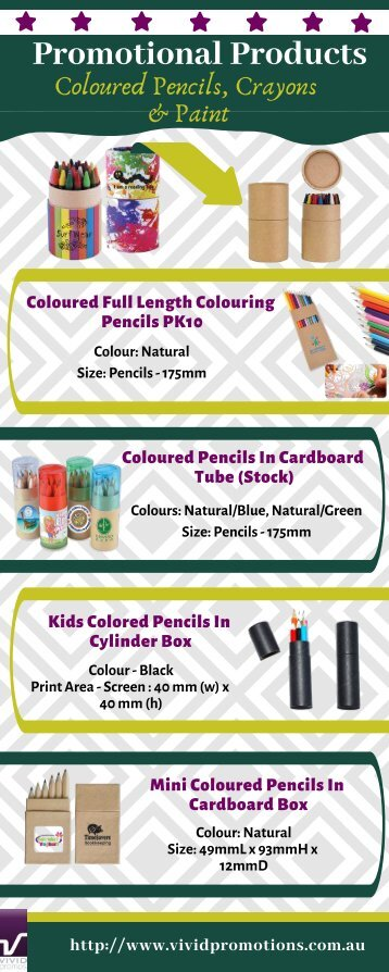 Customised Coloured Pencils, Crayons & Paint | Personalised Pencils