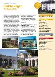 Bad Kissingen 2019 Westpark Katalogseite