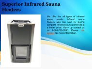 Superior Infrared Sauna Heaters