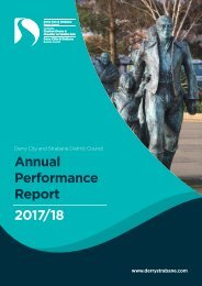 Derry City and Strabane DC - Annual Performance Report 17/18
