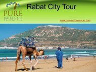 Rabat City Tour with Pure Morocco Tours & Travel
