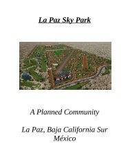 Sky Park Project 625 acres just outside of La Paz, Baja ,Mexico