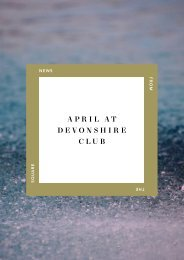 April at Devonshire Club