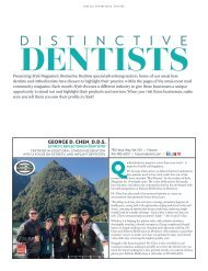 Style Magazine Distinctive Dentists Special Advertising Section March 2019