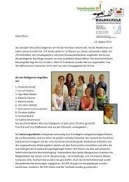 Elternbrief vom 12.8.11 - Waldschule