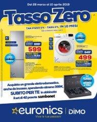 volantino TASSO ZERO - dal 28 Marzo al 10 Aprile 2019 Euronics