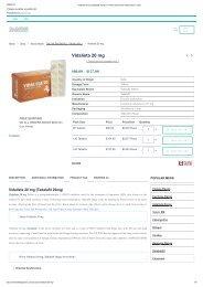 Vidalista 20 mg (Tadalafil 20mg) _ ✔100% Genuine At lowest price in USA