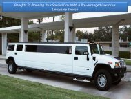 Benefits to Planning Your Special Day with a Pre-Arranged Luxurious Limousine Service