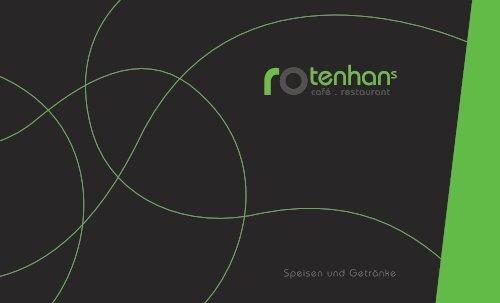 Rotenhans - Speisen und Getränke