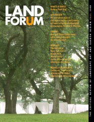 Land Forum September.noembe.p65 - Spacemaker Press