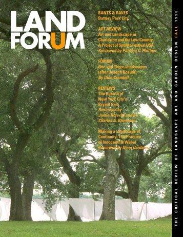 Land Forum September.noembe.p65 - Spacemaker Press
