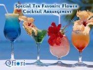 Ten Best Delicious Cocktails Drinks Arrangements