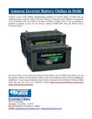 Amaron Inverter Battery Online in Delhi