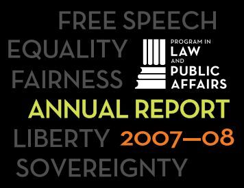 Entire Report (PDF) - Program in Law and Public Affairs - Princeton ...