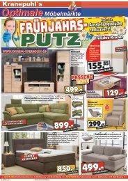 Fühjahrs-Kracher - Frühjahrs-Putz bei Kranepuhl's Optimale Möbelmärkte