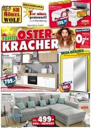 Echte Osterkracher bei Möbel Wolf - 3 x in Brandenburg: Top Möbel preiswert!