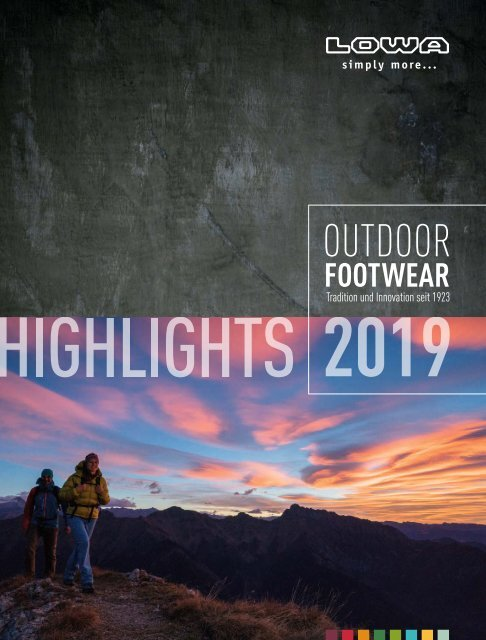 LOWA Outdoor Footwear Highlights 2019