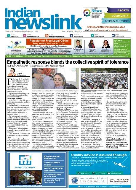 April 1 2019 Indian Newslink Digital Edition