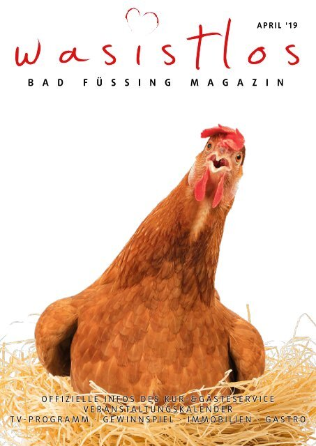 wasistlos Bad Füssing Magazin April 2019