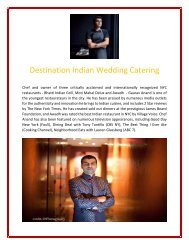 Destination Indian Wedding Catering - Gaurav Anand