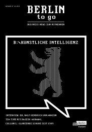 Berlin to go, Ausgabe 1.2019