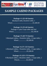 SAMPLE CASINO PACKAGES