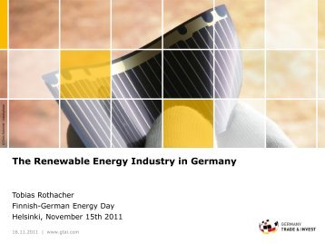 Germany Trade & Invest - Finnish-German Energy Day 2012