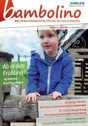 Bambolino - Das Familienmagazin für die Region Bamberg mit Landkreis Hassberge