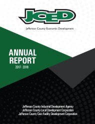 Jefferson County Economic Development Annual Report 2017-2018