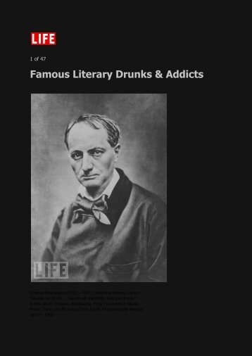 Famous Literary Drunks & Addicts