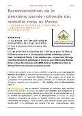Les recommandations de la seconde  journée nationale des maladies rares au Maroc - AMRM - Page 2