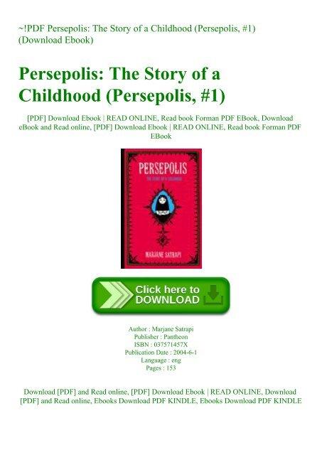 Pdf Persepolis The Story Of A Childhood Persepolis 1 Download Ebook
