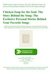 !#PDF Chicken Soup for the Soul The Story Behind the Song The Exclusive Personal Stories Behind Your Favorite Songs Full Pages