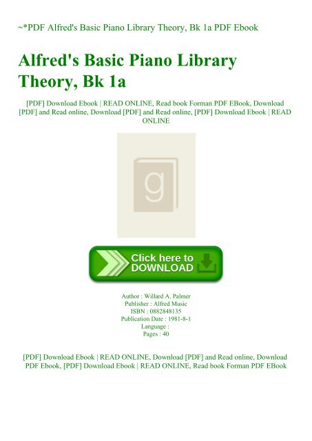 Bk 1A Alfreds Basic Piano Library Theory